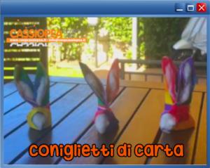 collegamento al video tutorial coniglietti di carta