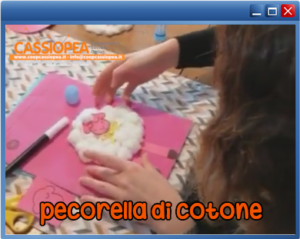collegamento al video tutorial pecorella di cotone